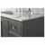Sapphire Gray / Italian Carrara Top - Close-Up - Top View 2