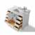 White / Italian Carrara Top / Gold Hardware - Front Open View 3