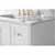 White / Italian Carrara Top / Gold Hardware - Close-Up - Top View 1