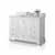 White / Italian Carrara Top - Angle View