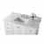 White / Italian Carrara Top - Close-Up - Top View 1