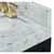 Onyx Black / Italian Carrara Top / Gold Hardware - Close-Up-Top View 2