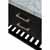 Onyx Black / Italian Carrara Top / Gold Hardware - Close-Up-Drawers View 1
