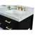 Onyx Black / Italian Carrara Top / Gold Hardware - Close-Up-Top View 1