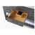Sapphire Gray / Italian Carrara Top - Close - Up-Drawers View 2