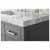 Sapphire Gray / Italian Carrara Top - Close - Up-Top View 2