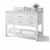 White / Italian Carrara Top / Gold Hardware - Angle View