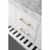 White / Italian Carrara Top / Gold Hardware - Close - Up-Drawers View 1