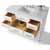White / Italian Carrara Top / Gold Hardware - Open Angle