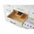 White / Italian Carrara Top / Gold Hardware - Close - Up-Drawers View 2