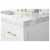 White / Italian Carrara Top / Gold Hardware - Close - Up-Top View 1
