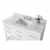 White / Italian Carrara Top - Close - Up-Top View 1