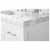 White / Italian Carrara Top - Close - Up-Top View 2