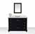 Onyx Black / Italian Carrara Top / Gold Hardware - Display View