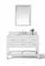 White / Italian Carrara Top / Gold Hardware - Display View