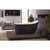 """Aquatica Emmanuelle 2 Freestanding Solid Surface Unique-Shaped Bathtub, Black Outside, White Inside, 66-1/4""""W x 35""""D x 32-3/4""""H"""
