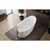 """Aquatica Emmanuelle 2 Freestanding Solid Surface Unique-Shaped Bathtub, White, 66-1/4""""W x 35""""D x 32-3/4""""H"""