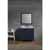 """Ariel Cambridge Collection 37"""" Single Rectangle Sink Vanity Set w/ Right Offset Sink and Matching Mirror in Midnight Blue"""