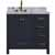 """Ariel Cambridge Collection 37"""" Single Rectangle Sink Vanity w/ Left Offset Sink in Midnight Blue"""
