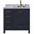 """Ariel Cambridge Collection 37"""" Single Rectangle Sink Vanity w/ Right Offset Sink in Midnight Blue"""