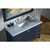 """Ariel Cambridge Collection 55"""" Single Rectangle Sink Vanity Set with Matching Mirror in Midnight Blue"""