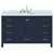"""Ariel Cambridge Collection 55"""" Single Oval Sink Vanity in Midnight Blue"""