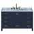 """Ariel Cambridge Collection 55"""" Single Rectangle Sink Vanity in Midnight Blue"""