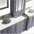 Grey Vanity Set Top View