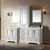 White Vanity Set Angular View