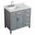 "Belmont Decor Hampton 37"" Single Left Offset Rectangle Sink Vanity in Grey, 37""W x 22""D x 35""H"