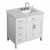 "Belmont Decor Hampton 37"" Single Right Offset Rectangle Sink Vanity in White, 37""W x 22""D x 35""H"
