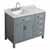 "Belmont Decor Hampton 43"" Single Left Offset Rectangle Sink Vanity in Grey, 43""W x 22""D x 35""H"
