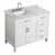 "Belmont Decor Hampton 43"" Single Left Offset Rectangle Sink Vanity in White, 43""W x 22""D x 35""H"