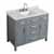 "Belmont Decor Hampton 43"" Single Rectangle Sink Vanity in Grey, 43""W x 22""D x 35""H"