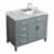 "Belmont Decor Hampton 43"" Single Right Offset Rectangle Sink Vanity in Grey, 43""W x 22""D x 35""H"