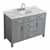 "Belmont Decor Hampton 49"" Single Oval Sink Vanity in Grey, 49""W x 22""D x 35""H"