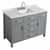 "Belmont Decor Hampton 49"" Single Rectangle Sink Vanity in Grey, 49""W x 22""D x 35""H"