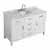 "Belmont Decor Hampton 55"" Single Oval Sink Vanity in White, 55""W x 22""D x 35""H"
