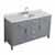 "Belmont Decor Hampton 61"" Single Oval Sink Vanity in Grey, 61""W x 22""D x 35""H"