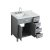 """37"""" Grey Left Rectangle Sink Opened View"""