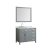 """43"""" Grey Left Oval Sink Product View"""