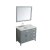 """43"""" Grey Left Oval Sink Product Angle View"""