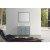 "43"" Single Left Rectangle Sink Vanity Set Grey"