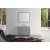 "Belmont Décor Hampton 43"" Single Oval Sink Vanity Set in Grey, Includes: Vanity Base, Countertop, Sink and Mirror"