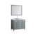 """43"""" Grey Oval Sink Product View"""