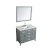 """43"""" Grey Rectangle Sink Product Angle View"""