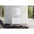 "Belmont Décor Hampton 43"" Single Rectangle Sink Vanity Set in White, Includes: Vanity Base, Countertop, Sink and Mirror"