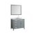 """43"""" Grey Right Oval Sink Product View"""