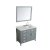 """43"""" Grey Right Oval Sink Product Angle View"""