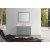 "Belmont Décor Hampton 49"" Single Oval Sink Vanity Set in Grey, Includes: Vanity Base, Countertop, Sink and Mirror"